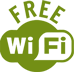 icon free wi-fi green